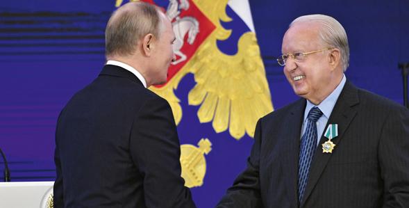 NIKOS DASKALANTONAKIS COMMENDED BY PRESIDENT OF THE RUSSIAN FEDERATION VLADIMIR PUTIN